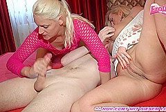 german blonde amateur milf at homemade threesome mmf