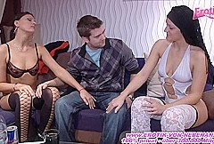 User meet *** german amateur Teens for first time threesome
